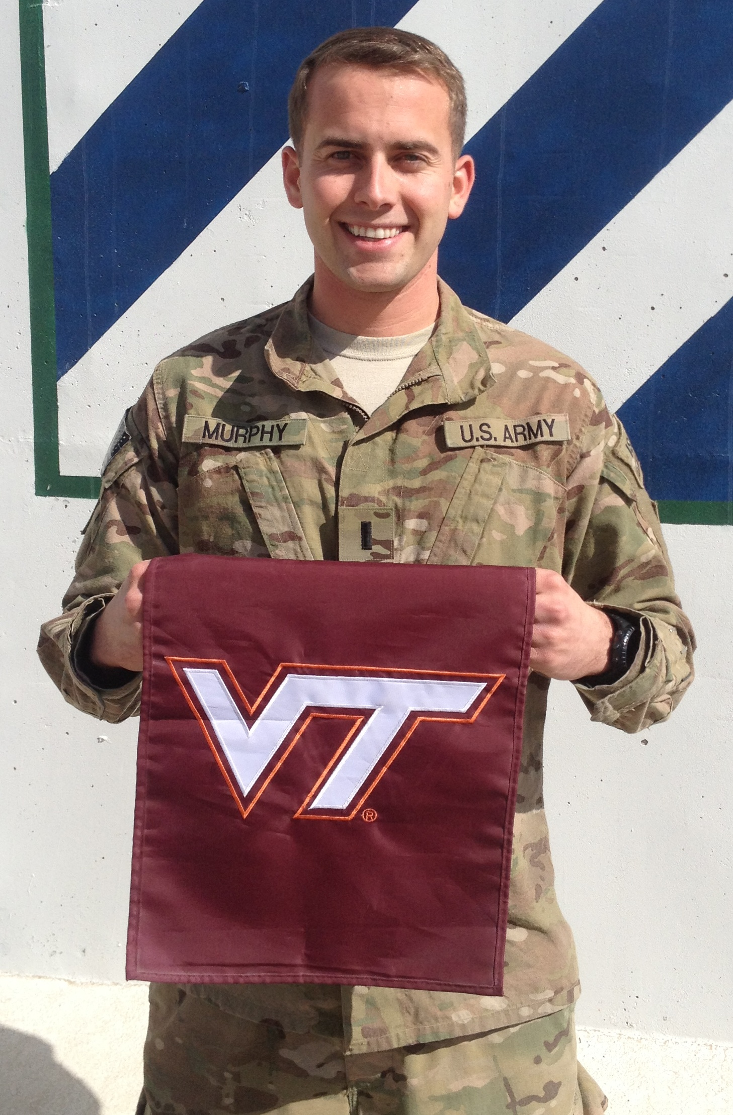 1st Lt. Ryan Murphy, U.S. Army, Virginia Tech Corps of Cadets Class of 2010 from his deployed location in Afghanistan.