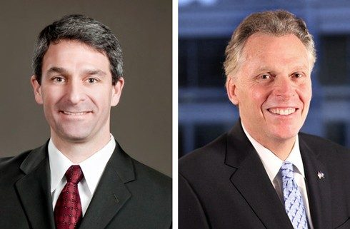 Ken Cuccinelli (left) and Terry McAuliffe