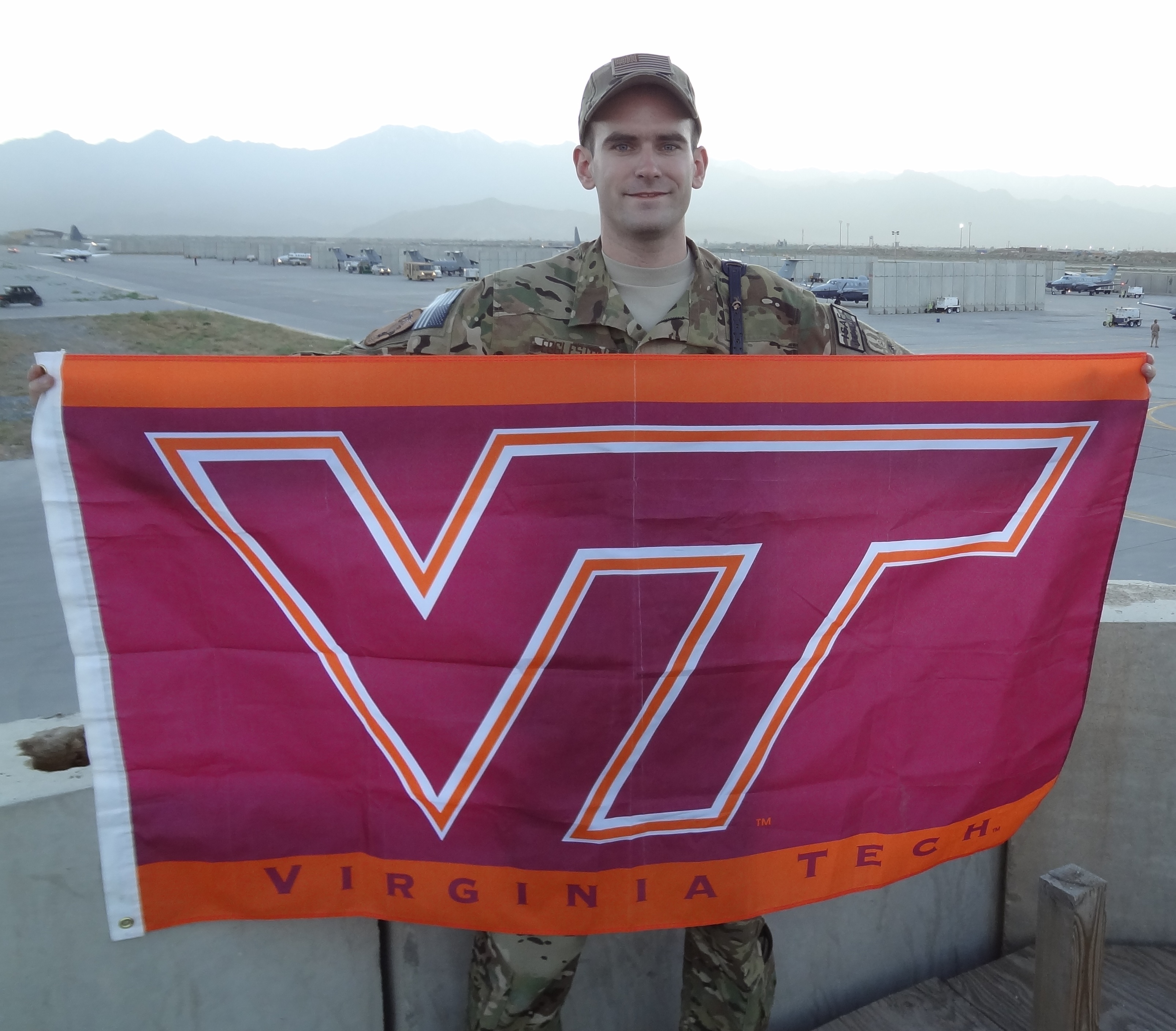 1st Lt. Josh Eggleston, U.S. Air Force, Virginia Tech Corps of Cadets Class of 2009 at Bagram Air Field, Afghanistan