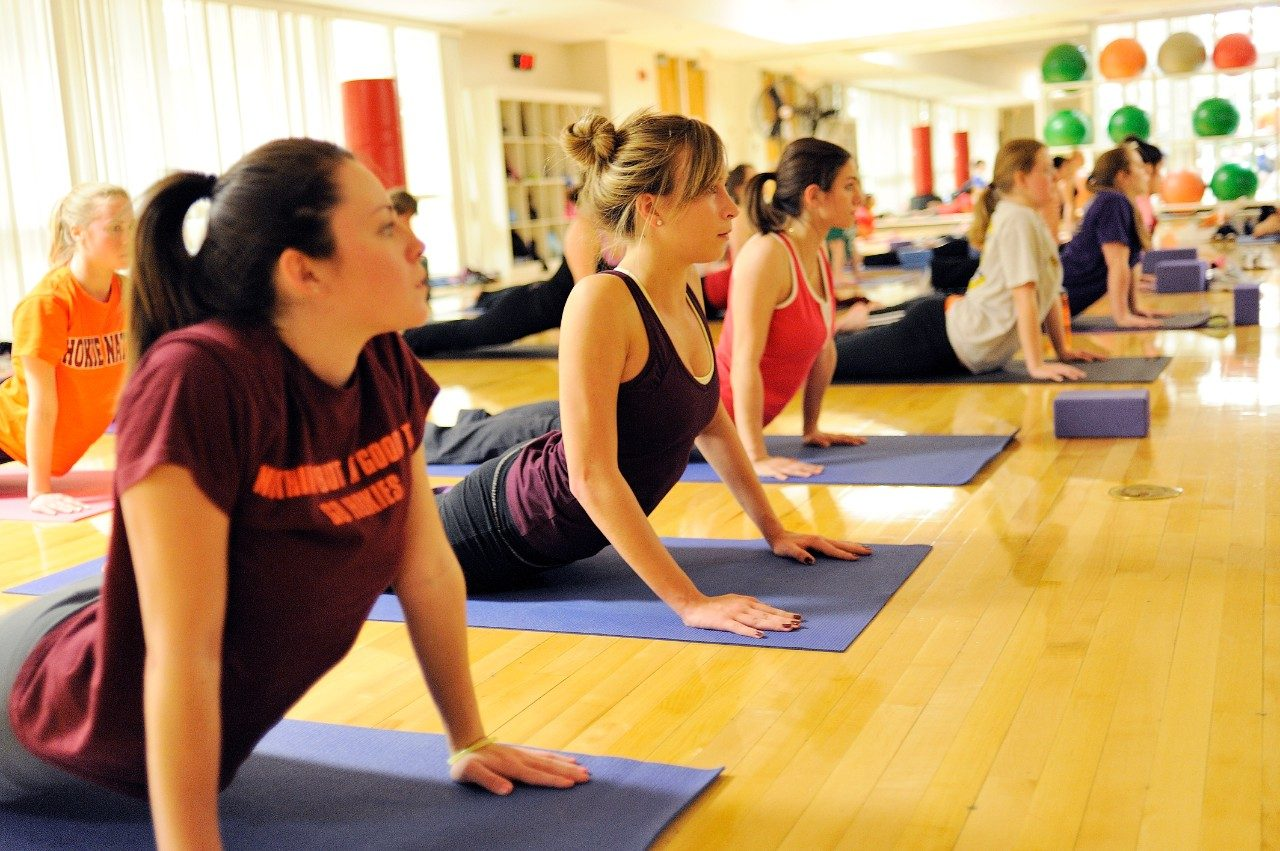 Virginia Tech students take advantage of the many fitness options offered through Recreational Sports programs.