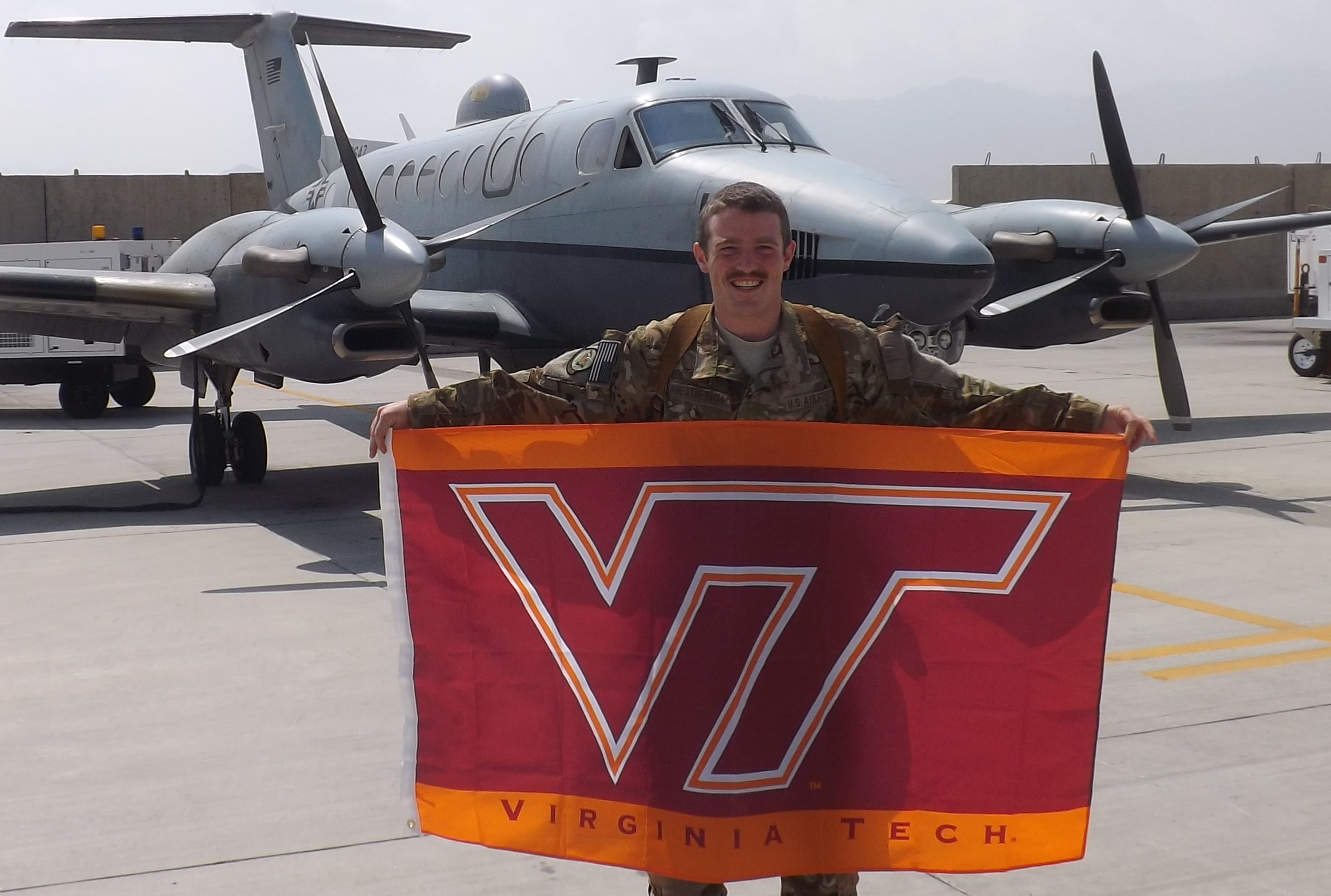 1st Lt. Sean Heatherman, U.S. Air Force, Virginia Tech Corps of Cadets Class of 2010 in Afghanistan