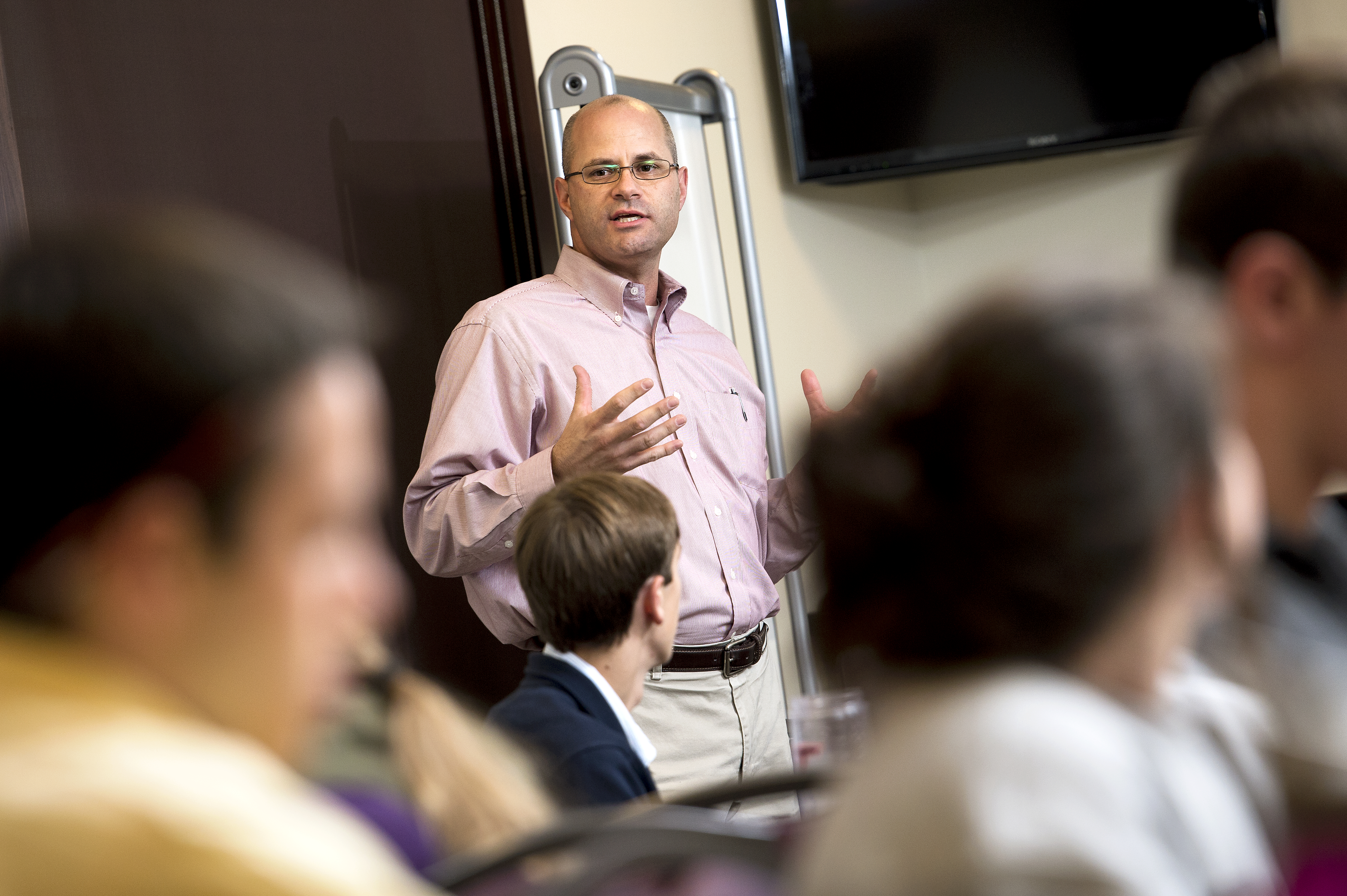 Marc Junkunc, who is faculty director of Virginia Tech's Innovate program, seeks to impart some key lessons on entrepreneurship in his classes.