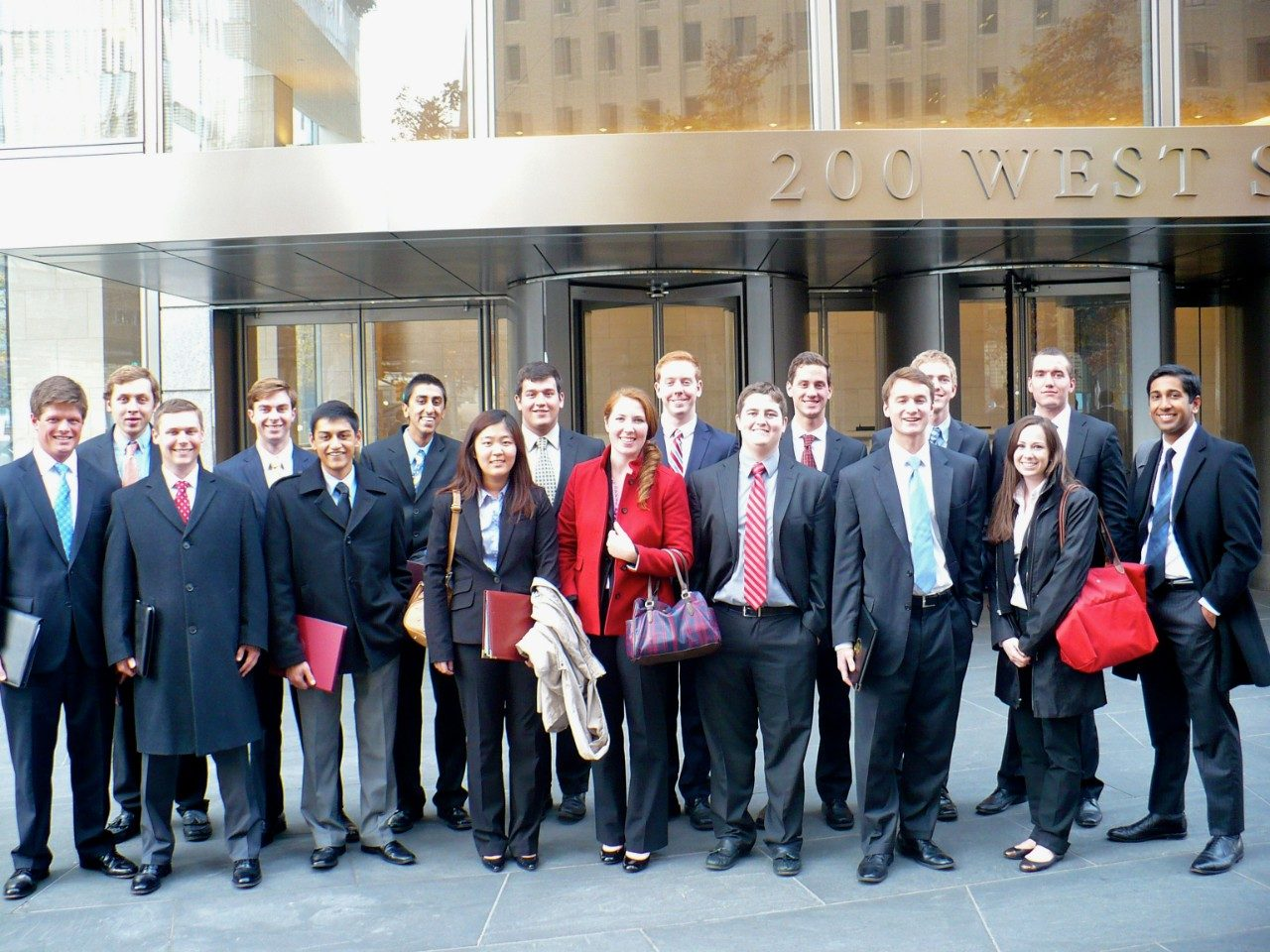 BASIS and SEED students visit the global headquarters of Goldman Sachs at 200 West Street during a recent visit to New York.