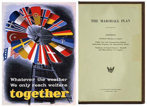 Poster promoting European unity during the implementation of the Marshall Plan.