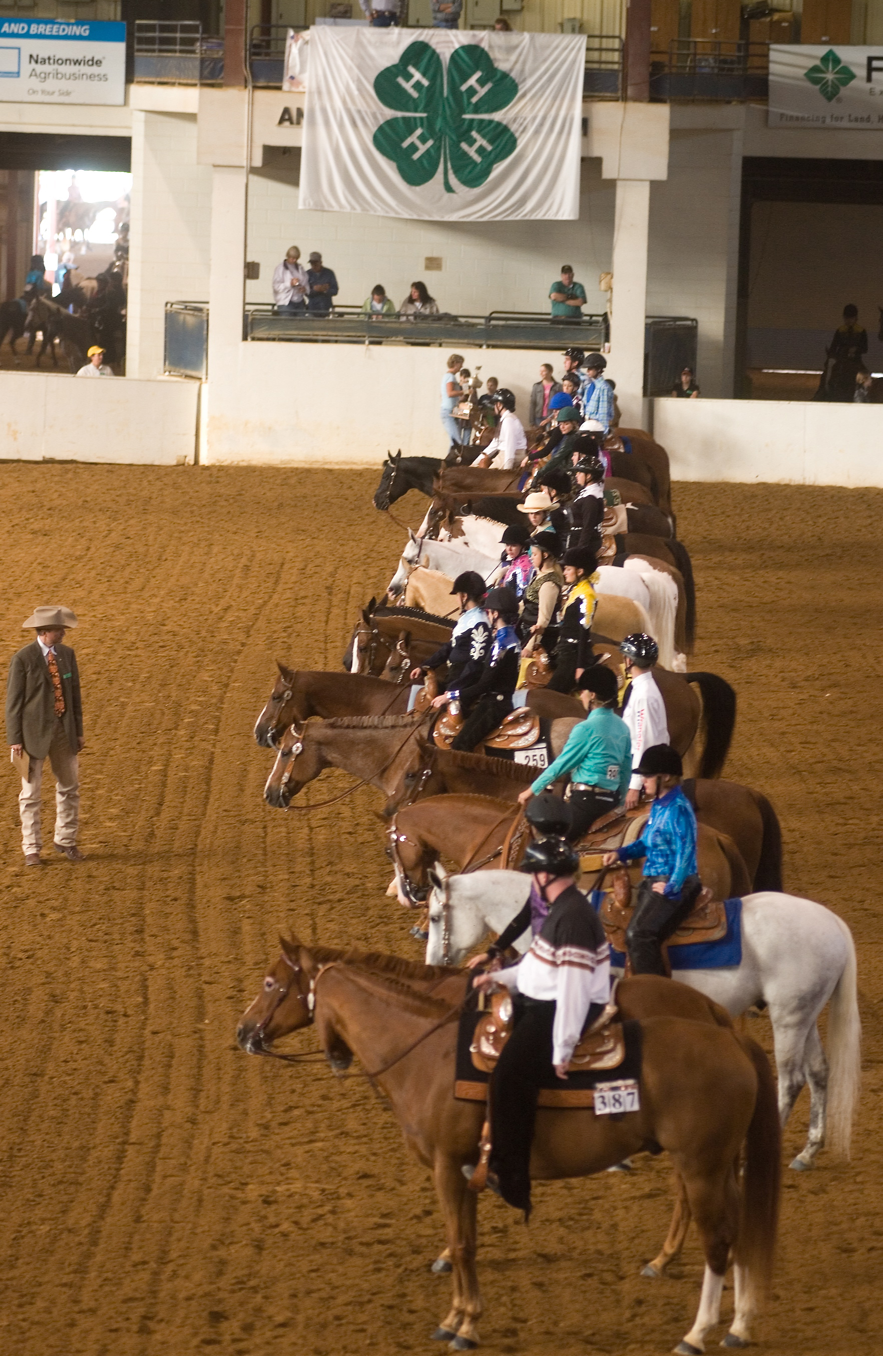 4-H members showing their horses at the State 4-H Horse Show.