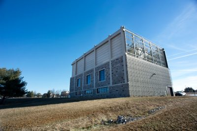 Exterior of Virginia Tech's new chilled water plant