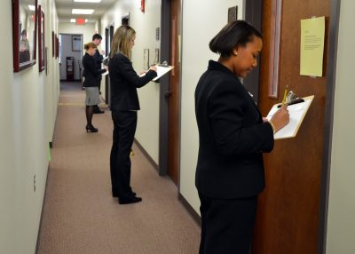 Prospective students prepare for interviews