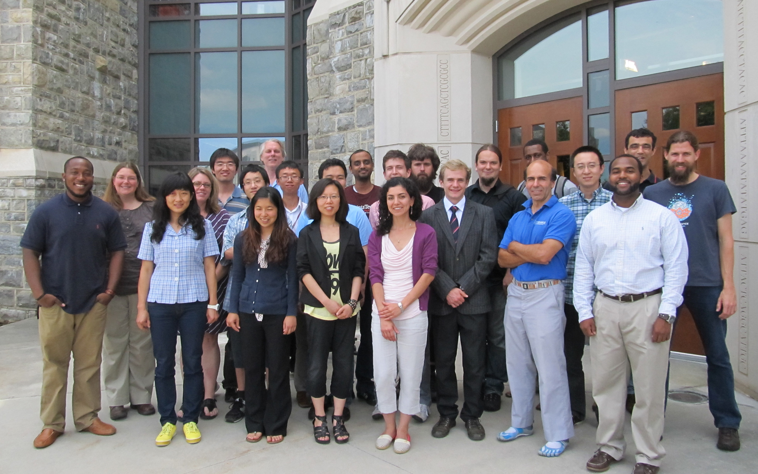 Pictured are students and mentors of the summer institute.