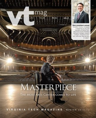 Virginia Tech Magazine winter 2013-14 cover