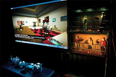 Virtual opera in the Cube in the Moss Arts Center