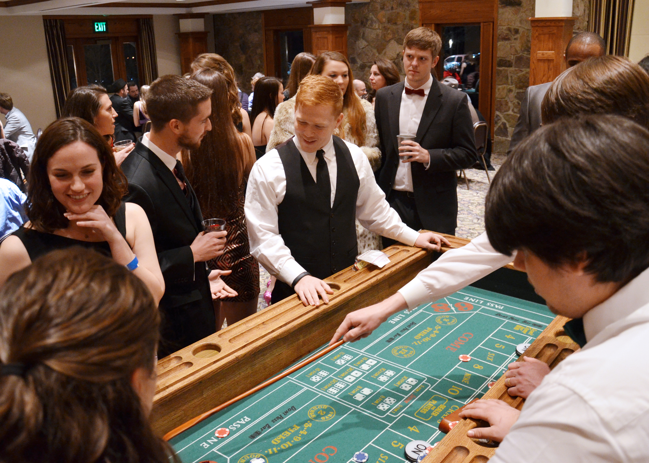 Craps table at Casino Night