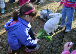 The annual Easter egg hunt will include a rabbit handling and care demonstration.