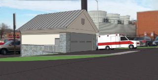 The proposed Virginia Tech Rescue Squad garage includes space for two vehicles that currently have to be parked outside.