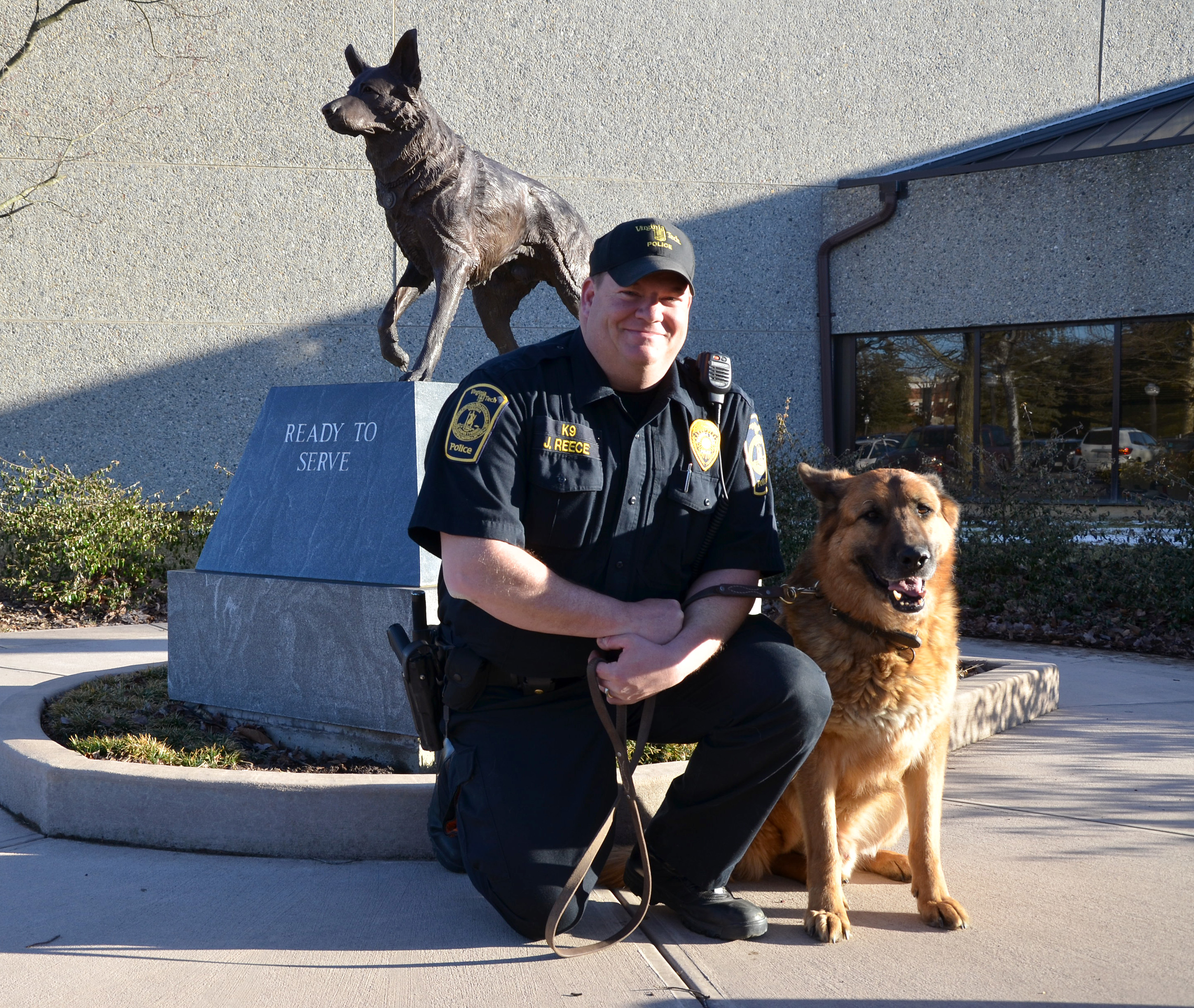 Boris and Reece at the Virginia Police Canine Memorial