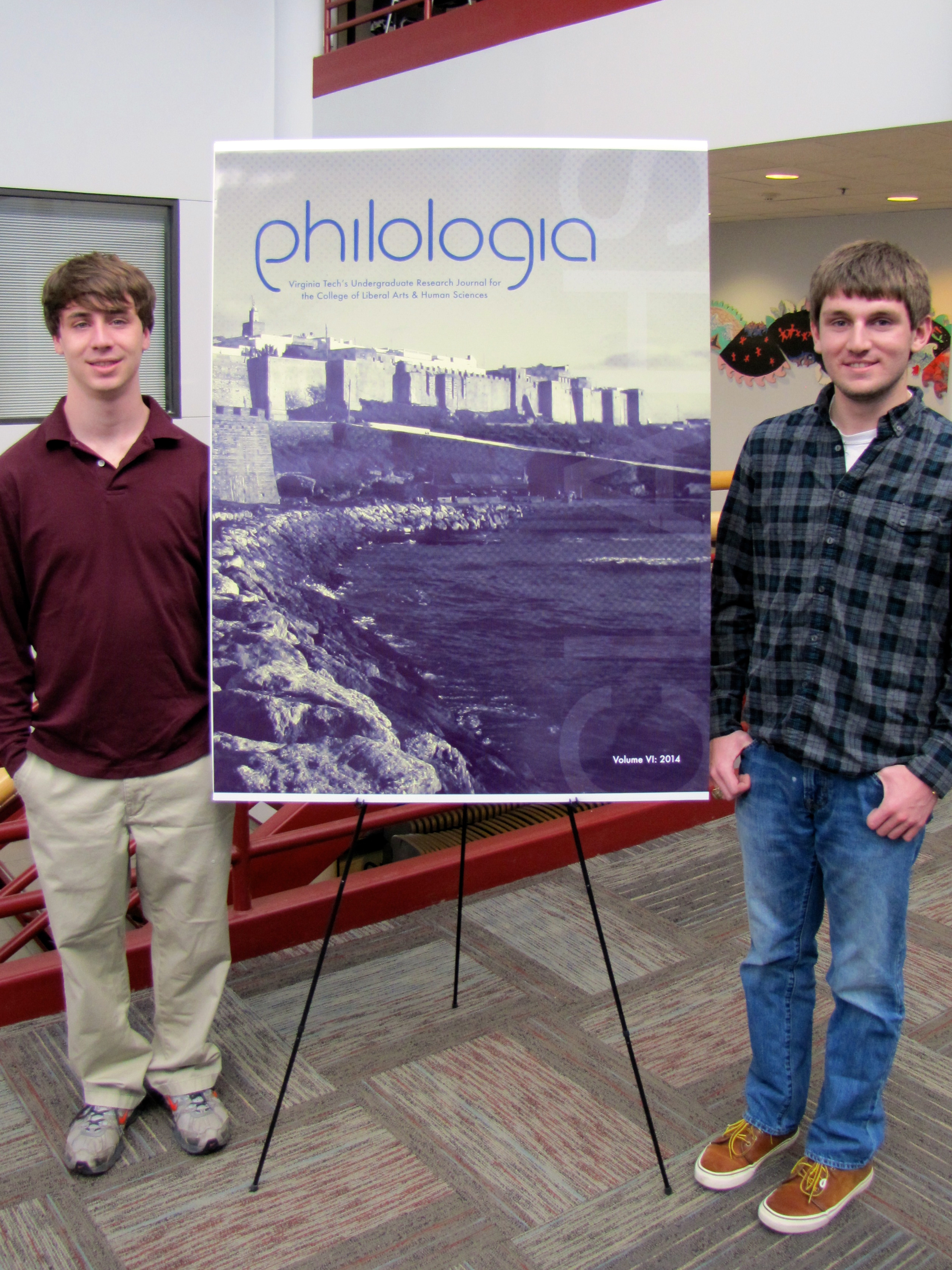 """Philologia"" editors with cover image"
