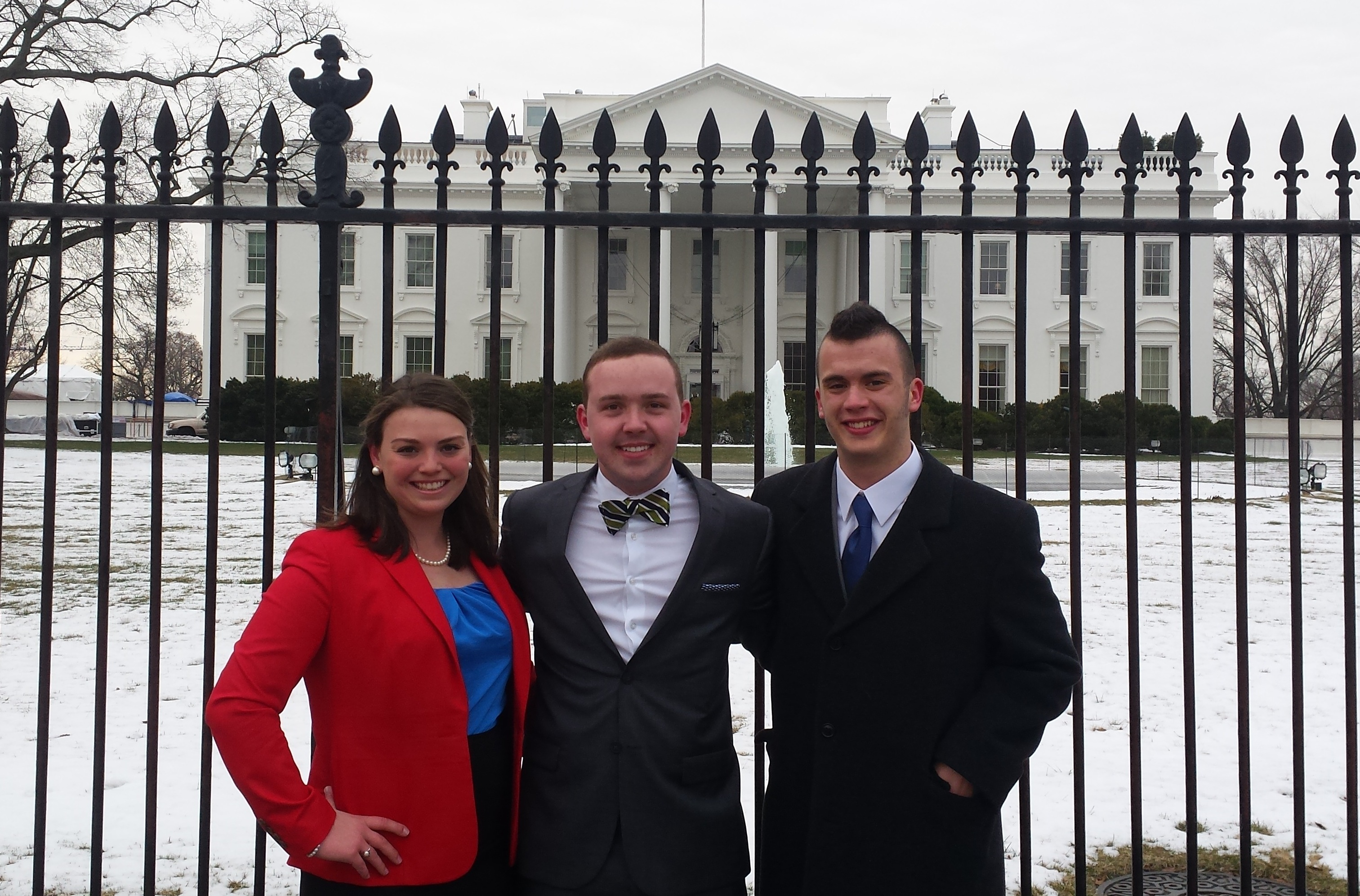 Sarah McKay, Austin Larrowe, and Wes Williams in Washington, D.C.