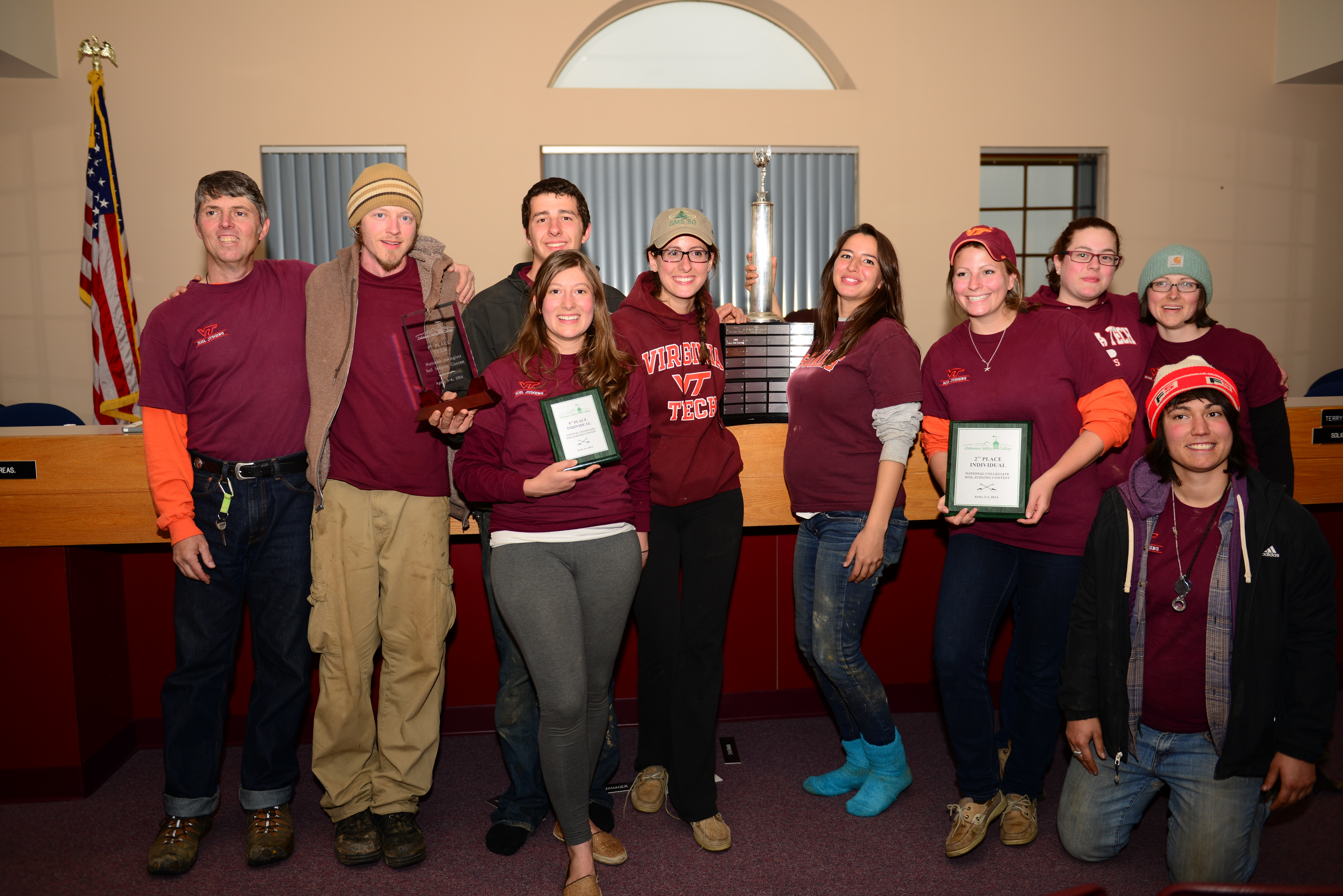 The Virginia Tech Soil Judging Team