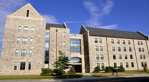 Photograph of Harper Hall on the Virginia Tech campus