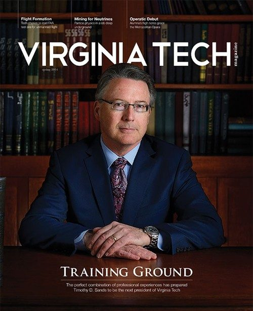 Virginia Tech Magazine spring 2014 cover