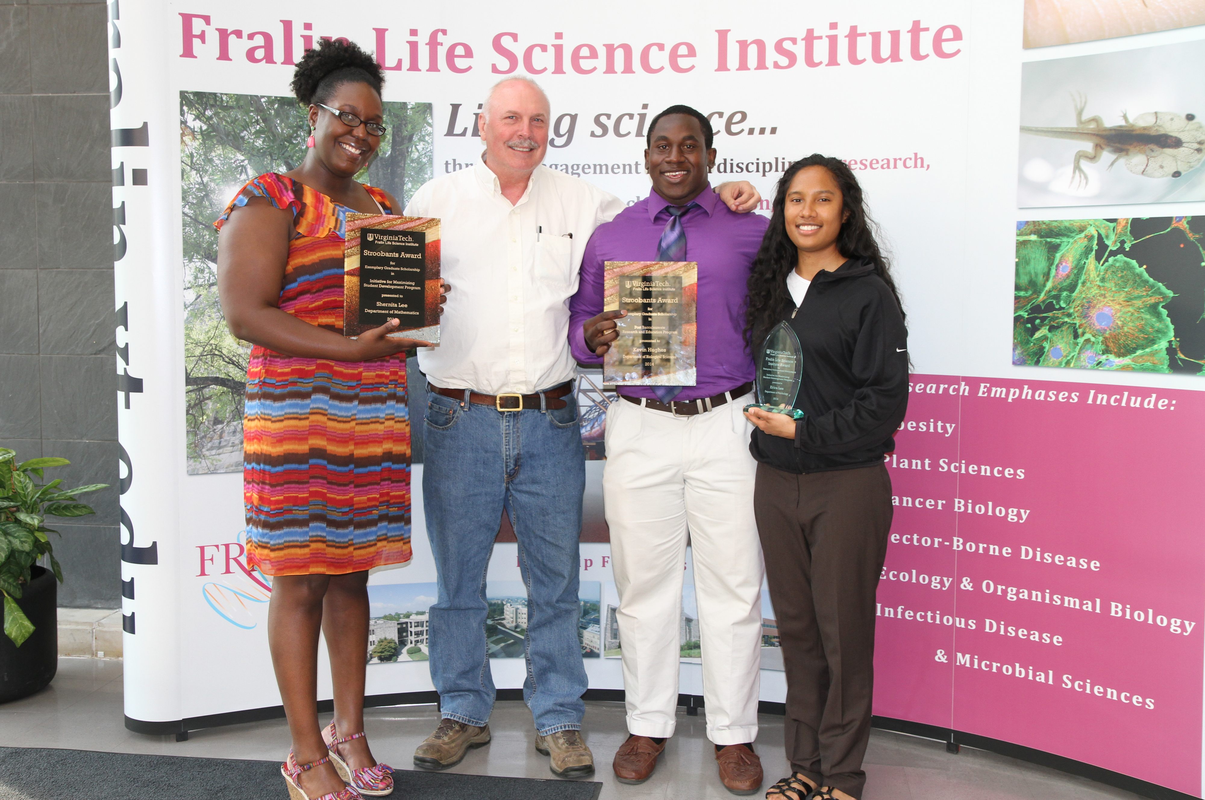 Dennis Dean with award recipients