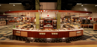 La Patisserie is one of eight shops in D2 at Dietrick Hall where guests can make their own VT-embossed Belgian waffles.