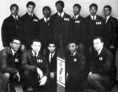 Groove Phi Groove fraternity in 1969