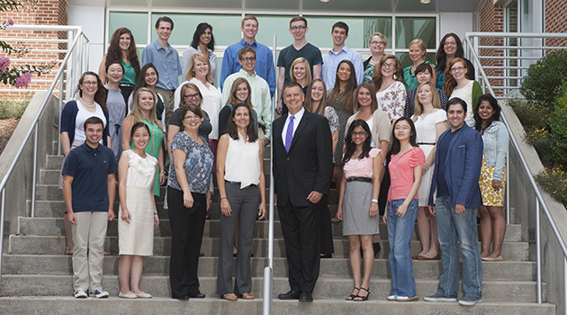 The charter class of Virginia Tech's Translational Biology, Medicine, and Health doctoral program