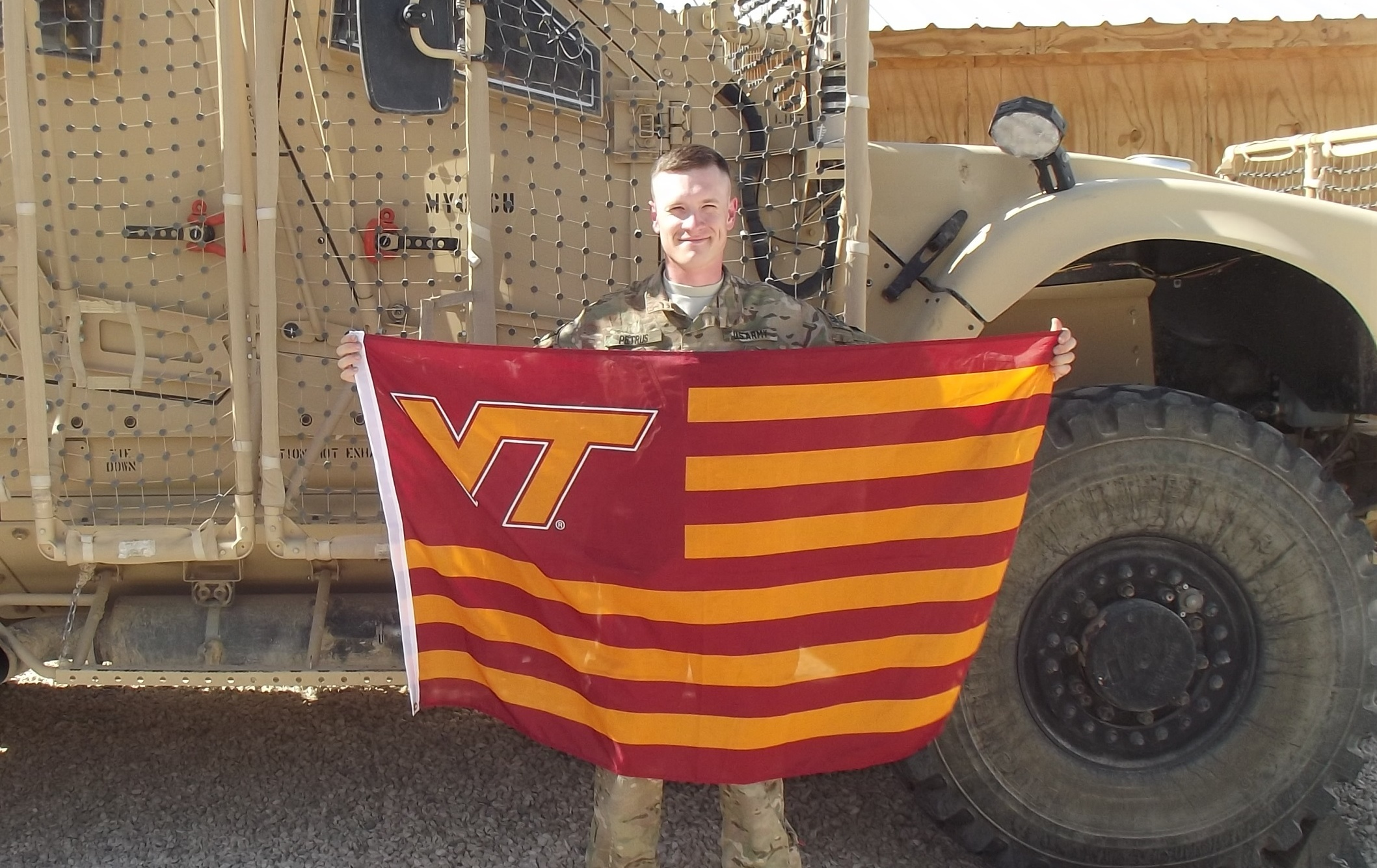 Capt. Joshua Petrus, U.S. Army, Virginia Tech Corps of Cadets Class of 2008 in Afghanistan.