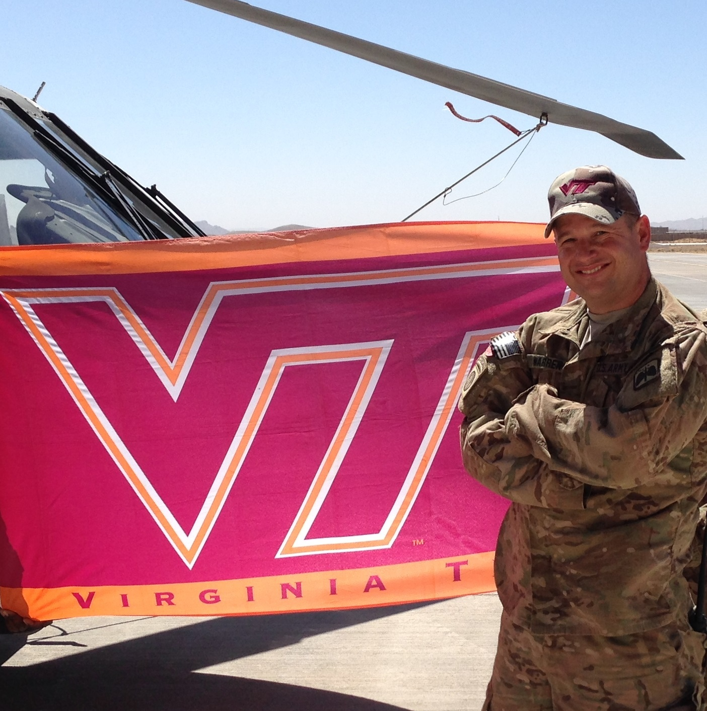 Master Sgt. Joseph Warren II, U.S. Army, Virginia Tech Corps of Cadets Class of 1996 in Afghanistan.
