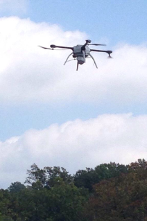 Virginia Tech pilots flew this unmanned aircraft during a search-and-rescue mission near Charlottesville in October, 2014, marking what may be the first use of such a craft for law enforcement purposes in Virginia. Photo by Albemarle County Police Department.