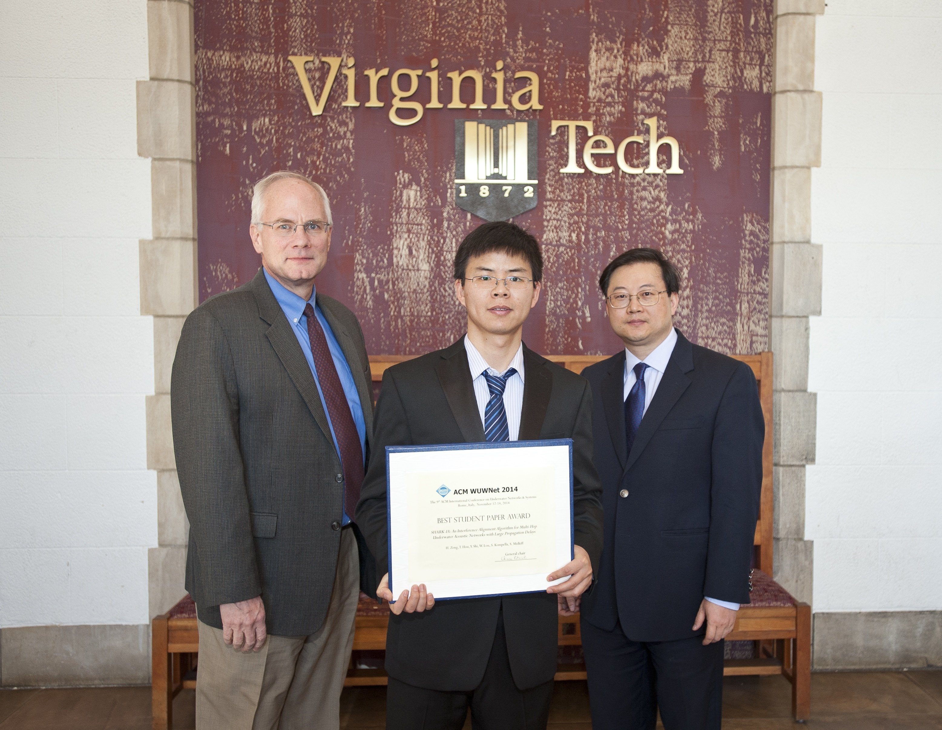 Virginia Tech ECE doctoral student wins award at international conference
