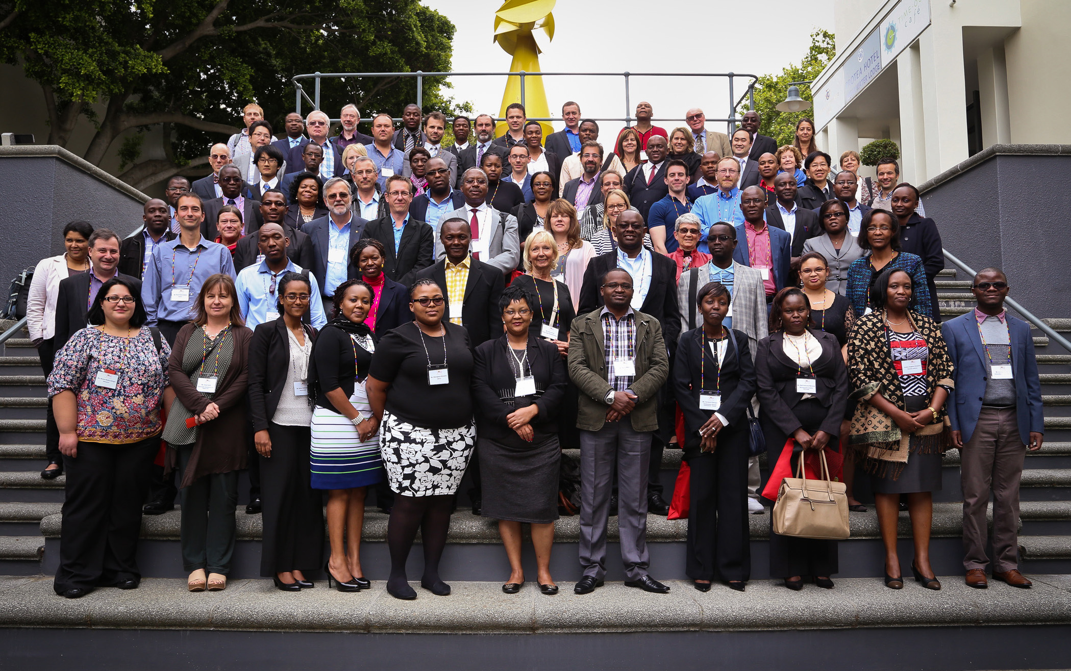Group photo of 83 attendees from the Law Via the Internet Conference.