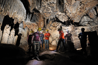 Venture Out, a division of Student Centers and Activities, offers opportunities for students to enjoy the great outdoors, including caving trips.