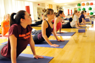Yoga, along with over 100 other classes a week, is offered through Recreational Sports.