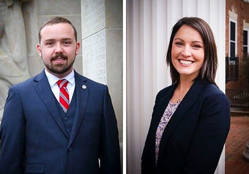 Board of Visitors undergraduate representative Austin Larrowe and graduate representative Ashley Francis say the experience has been invaluable.