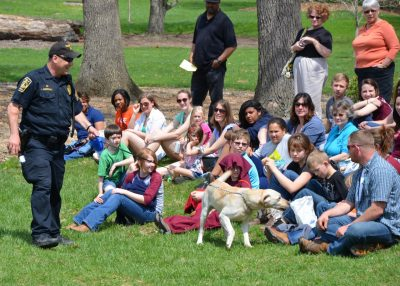 Police dog demonstration