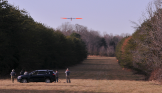 Aerial inspection of energy pipelines is federally required and typically performed using manned aircraft flying at low altitudes. If validated, unmanned aircraft technologies can potentially reduce risks to pilots and the public. Photo by American Aerospace Technologies Inc.