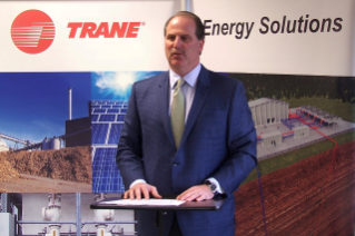 Larry Cummings has been leading Trane's partnership with the Sustainability Institute.