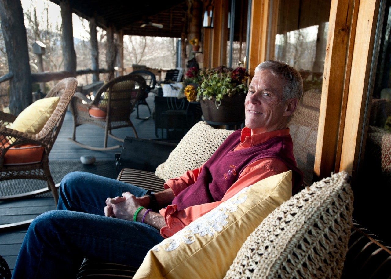 Alumni Distinguished Professor E. Scott Geller at his home near the Giles County community of Newport. Geller said he and his wife regularly host university retreats and conferences on the 45-acre property, which he named Make-A-Difference Lodge.