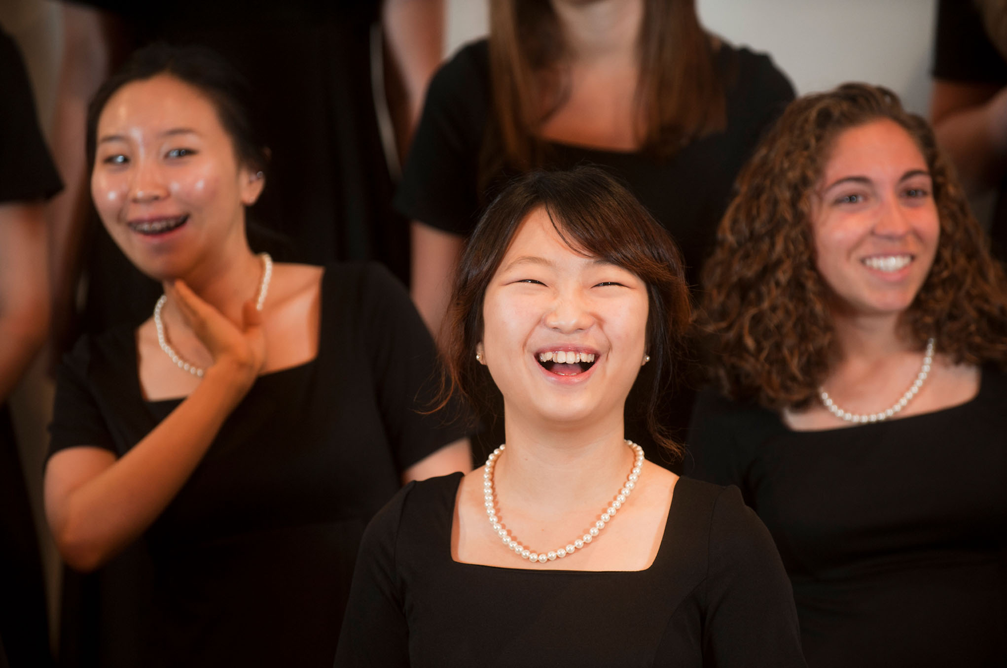 Virginia Tech students perform with the Women's Chorus
