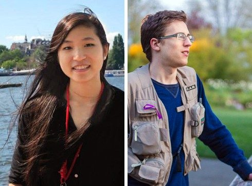 Gina Li, left, and Christopher Gerlach