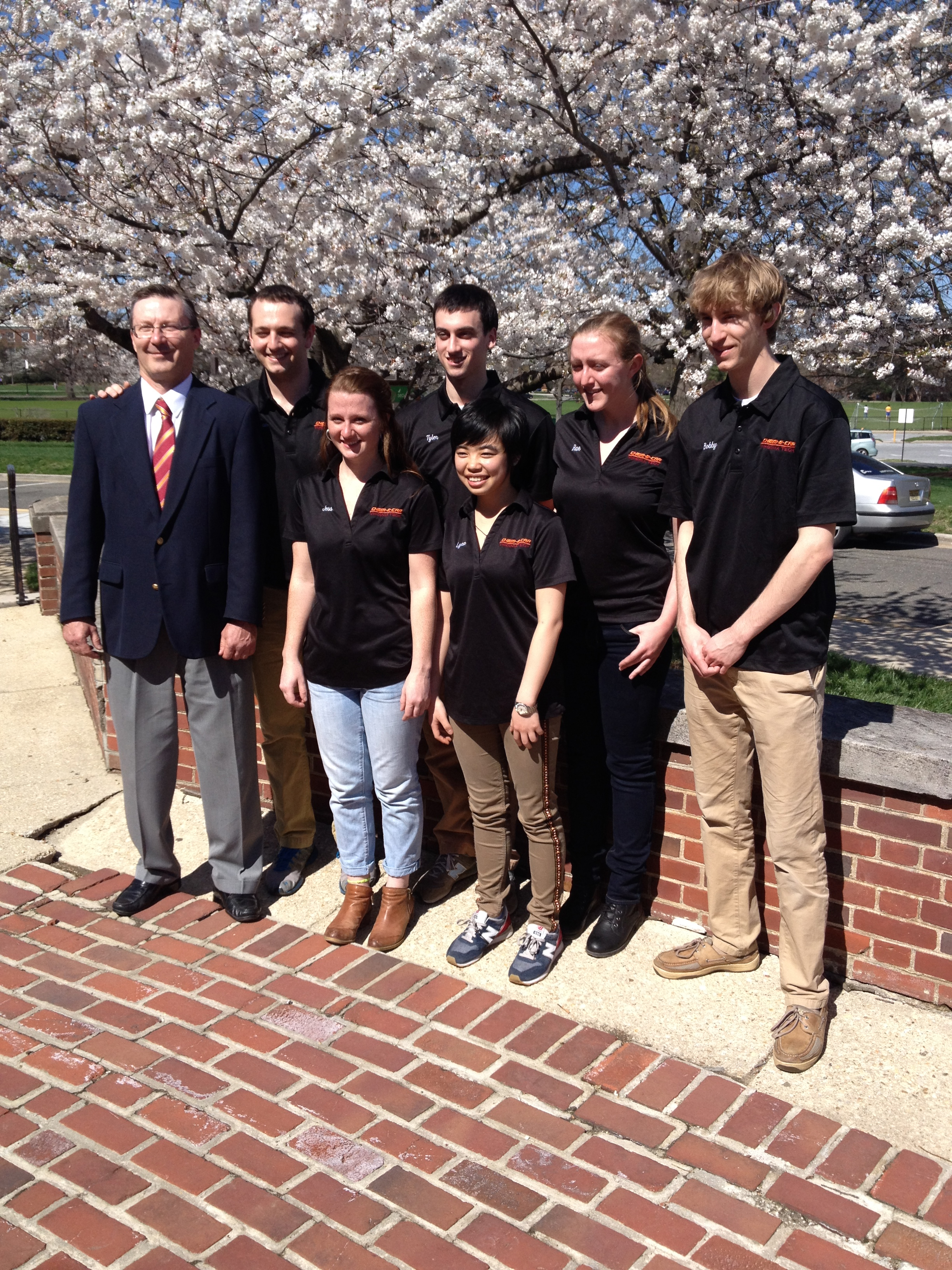 From left: Peter Rim, Coogan Thompson, Jessica Kersey, Tyler Reif, Yining Hao, Rachel Crews, and Bobby Hollingsworth.