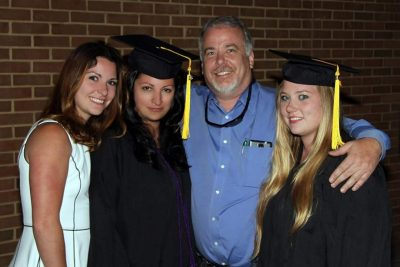 Chantelle Guest, second from left, at graduation from New River Community College