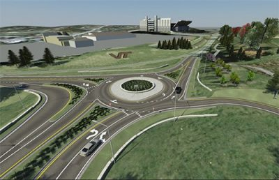 rendering of traffic roundabout on Southgate Drive