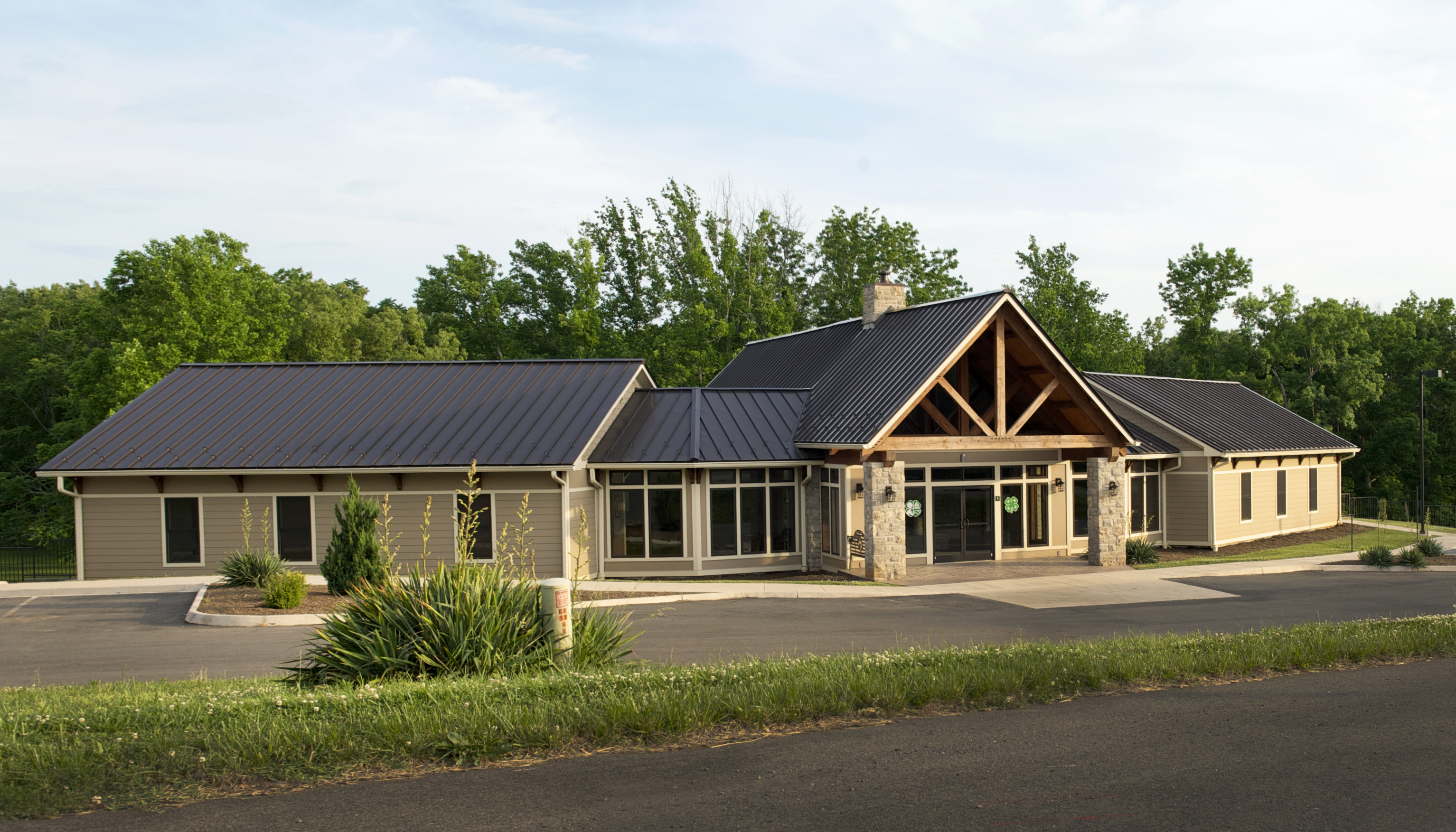 Photograph of the Hahn Welcome Center at the W.E. Skelton 4-H Educational Conference Center at Smith Mountain Lake