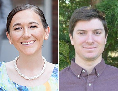 Left to right: Andrea Hamre and Kyle Lukacs, graduate students in the School of Public and International Affairs in the National Capital Region, have each been awarded a 2015 Dwight David Eisenhower Transportation Fellowship.