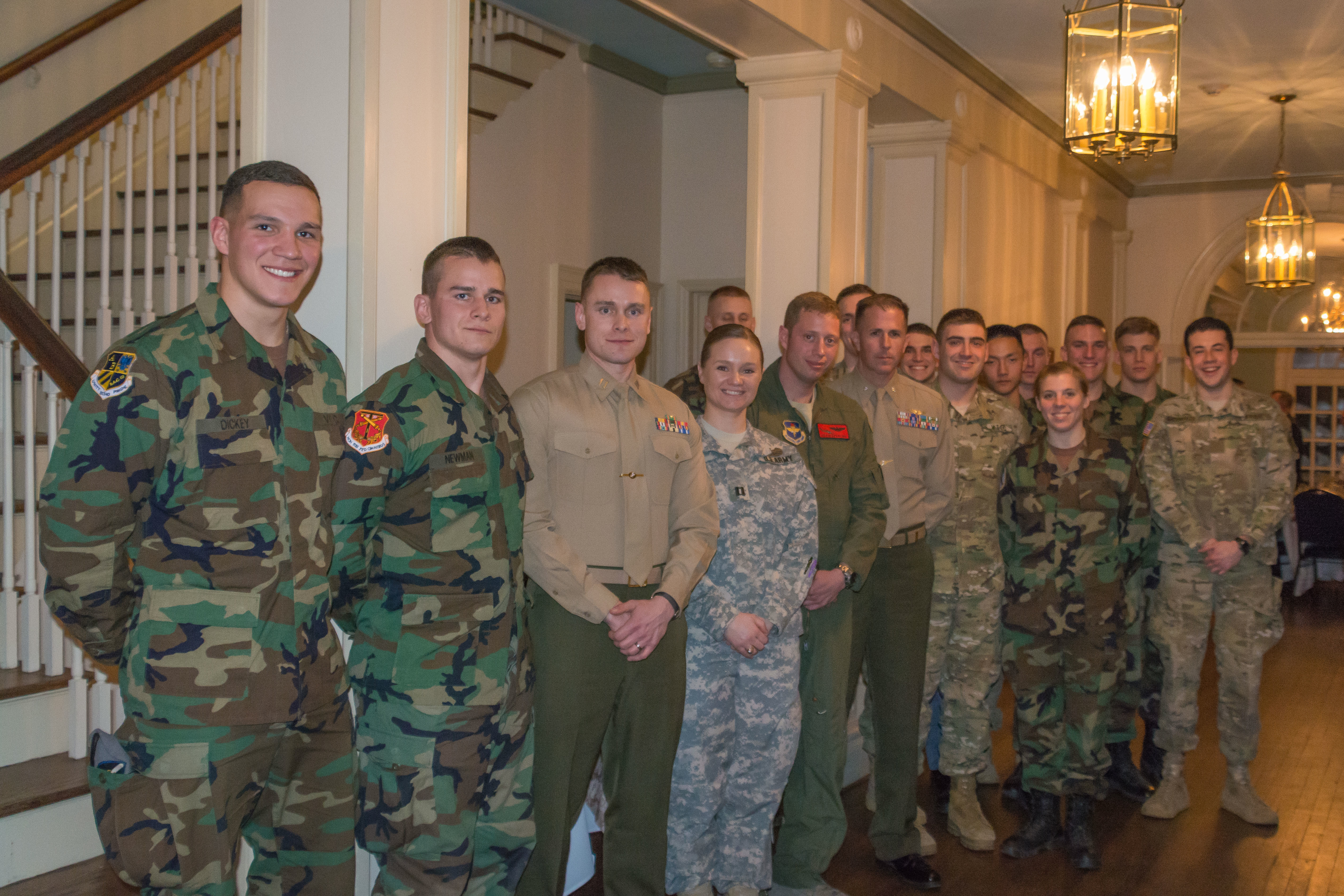 Gunfighter Panel members and cadets after the Spring 2015 event