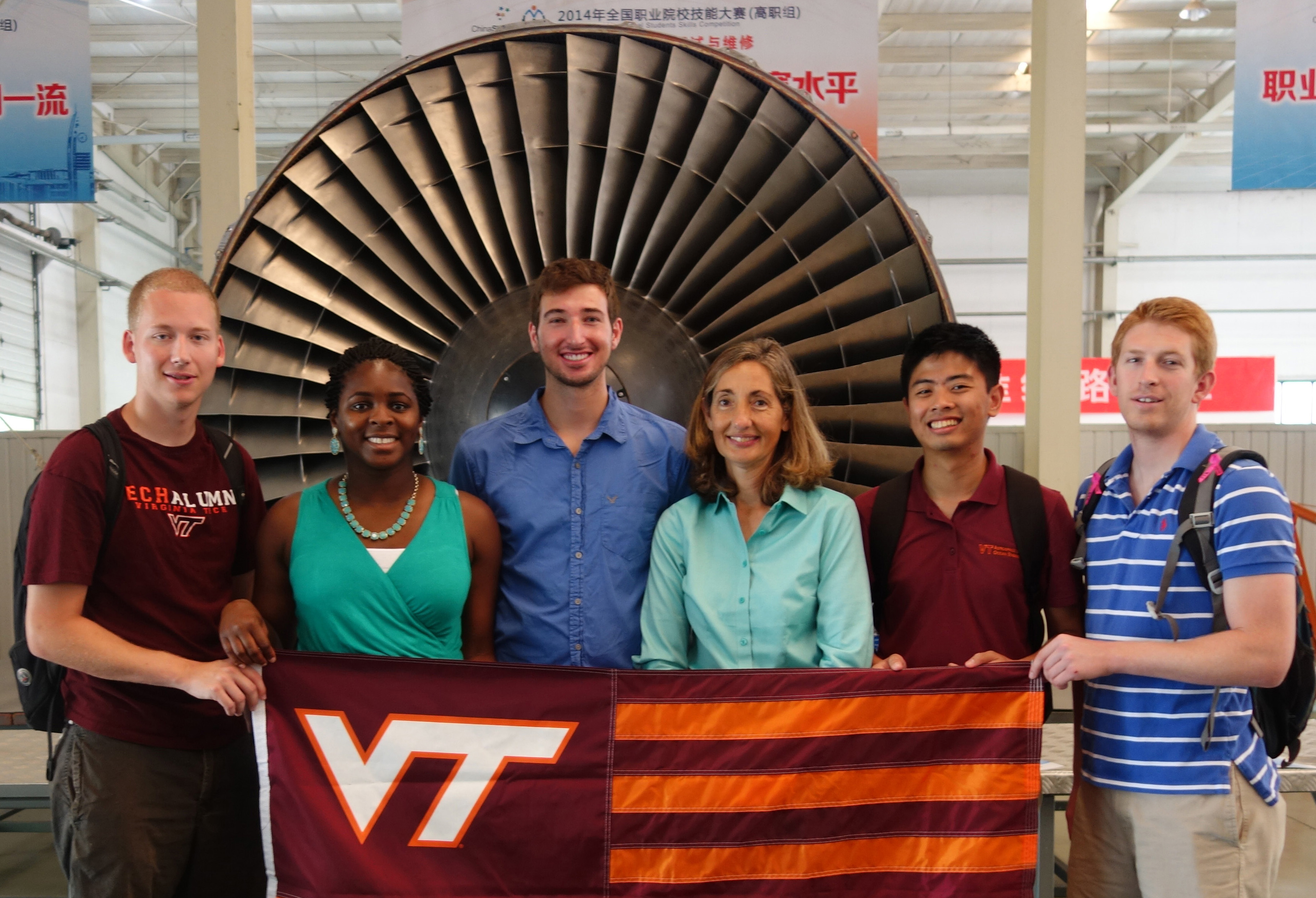 From left: Cody Reed, Adwoa Baah-Dwomoh, Eric Santure, Kim Lester, Howard Chung and Nick Pera; all of the college of engineering.