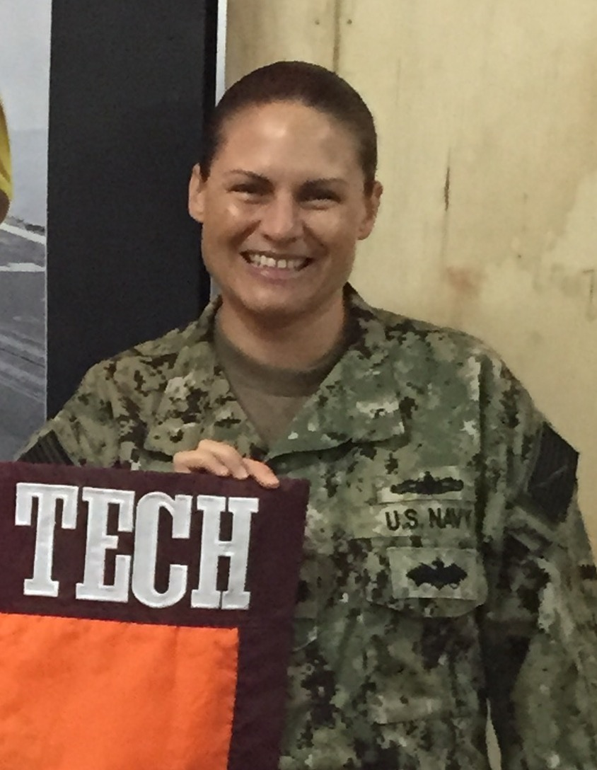 Cmdr. Nikki Phelps, U.S. Navy, Virginia Tech Corps of Cadets Class of 1998 who is currently deployed in Africa.