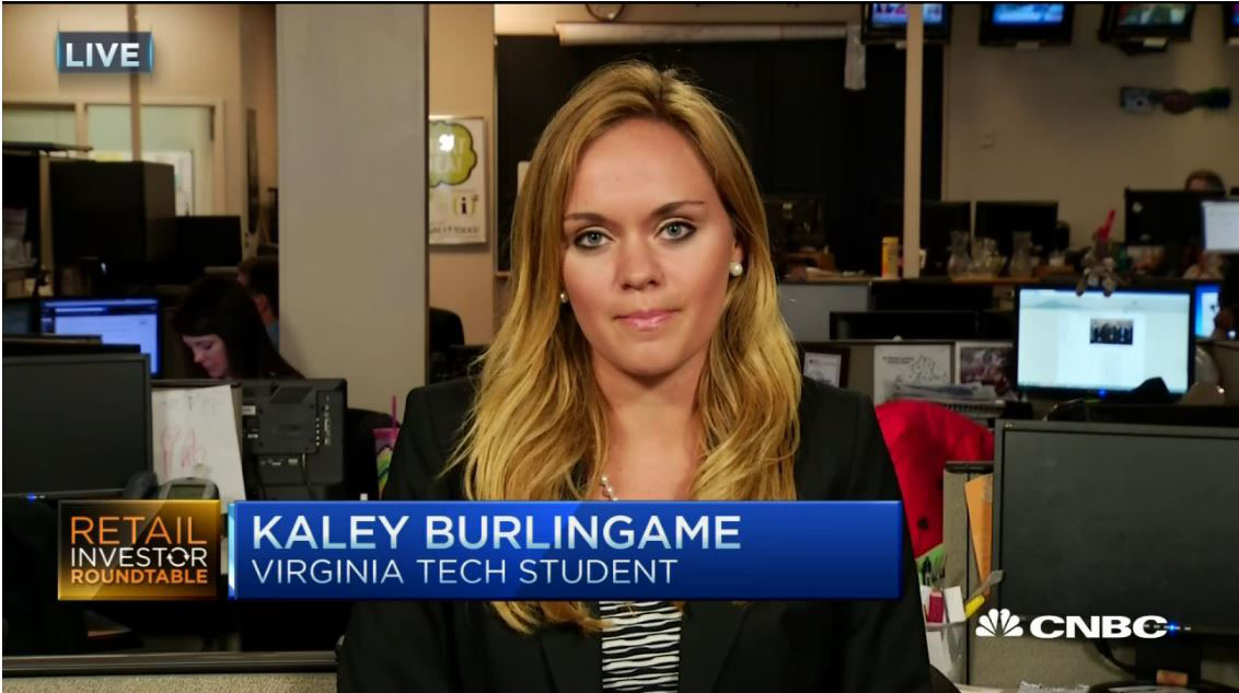 Kaley Burlingame on CNBC